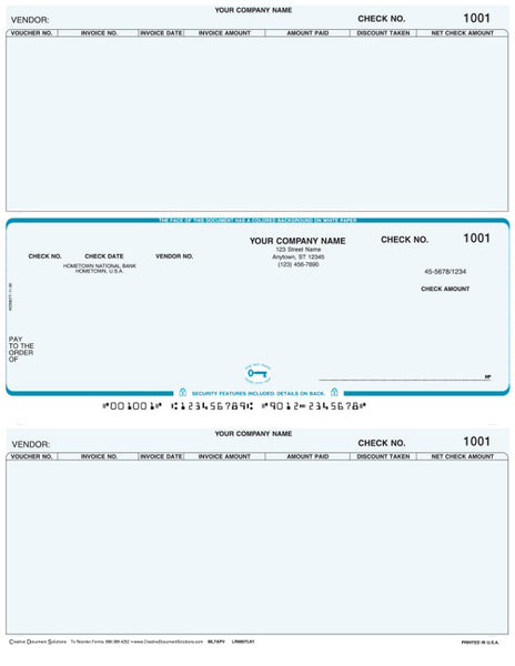 Macola 7 Laser Accounts Payable Check (with voucher)