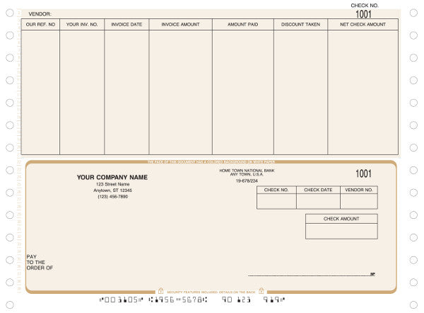 Peachtree Continuous Accounts Payable Check