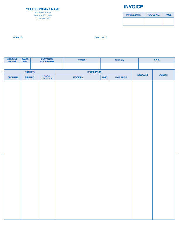Peachtree Laser 2000 Product Invoice Form