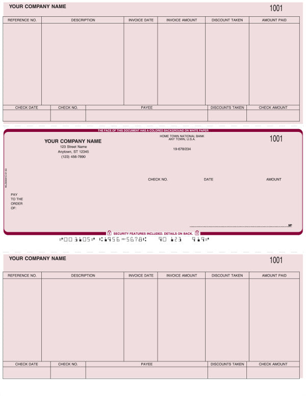 Peachtree Laser Accounts Payable Check