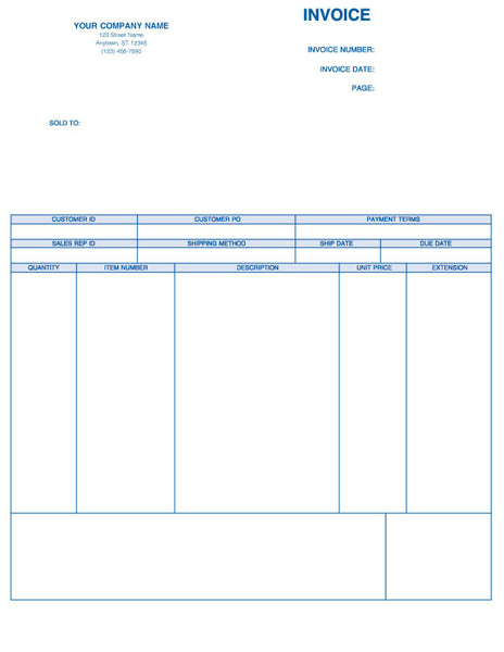 Peachtree Laser Product Invoice Form