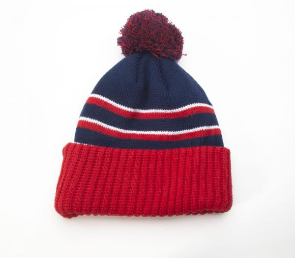 Richardson Beanie Pom Knit W/ Cuff 134