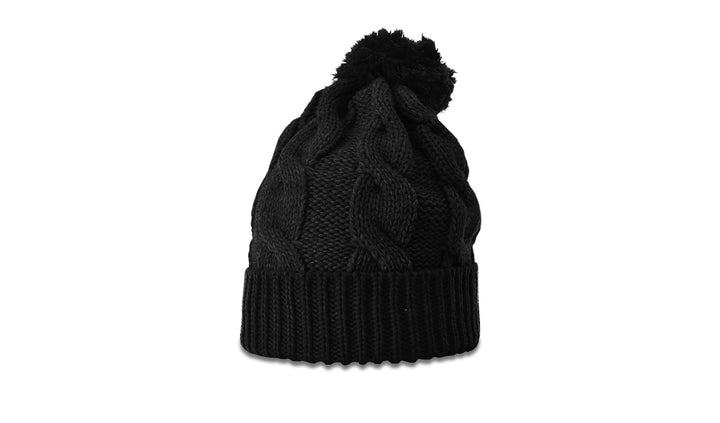 Richardson Beanie Chunk Twist Knit with Cuff and Pom 141