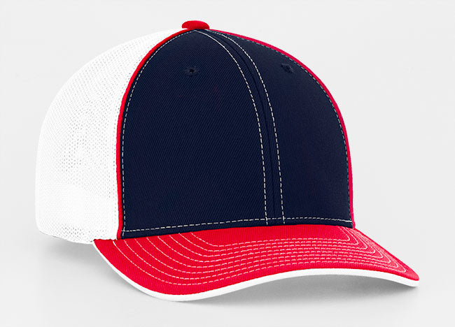 f77d721be9b Pacific Headwear Trucker Mesh White Front and Tri Colors 404M – Sport About  Equipment