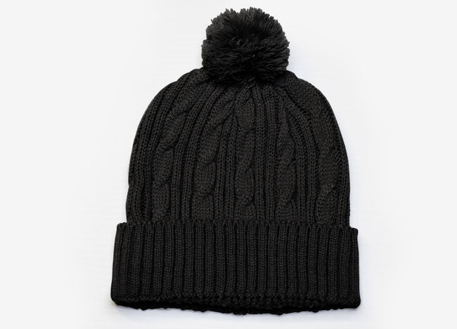 Pacific Headwear Cable Knit Pom-Pom Beanie 643K