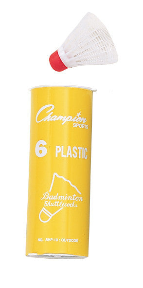 Champion Badminton Shuttlecocks Plastic Outdoor SHP10