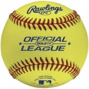 Rawlings Baseballs Leather Practice Balls Yellow ROLB1Y
