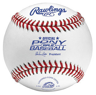 Rawlings Baseballs Pony League Tournament Ball RPLB