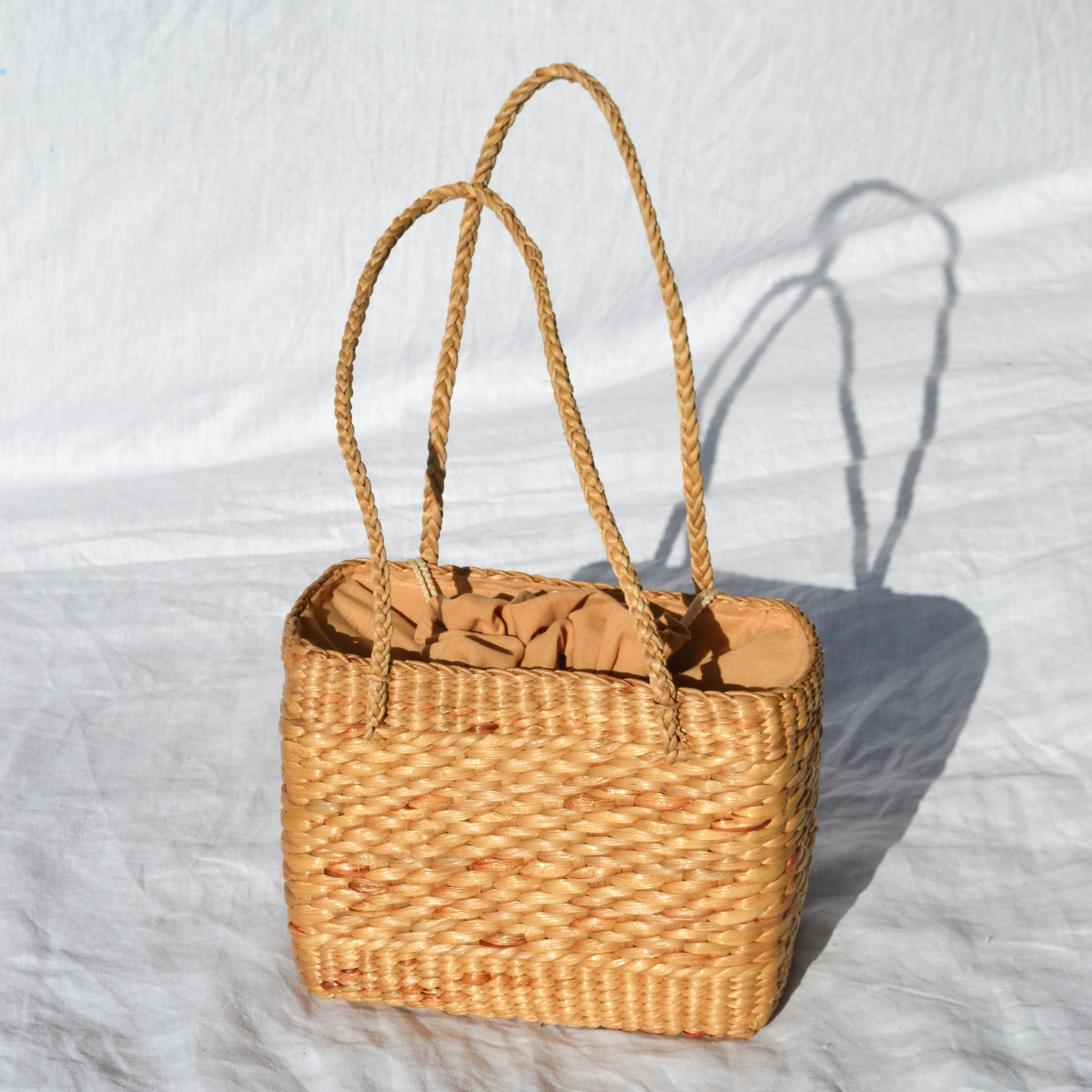 Square Straw Shoulder Bag