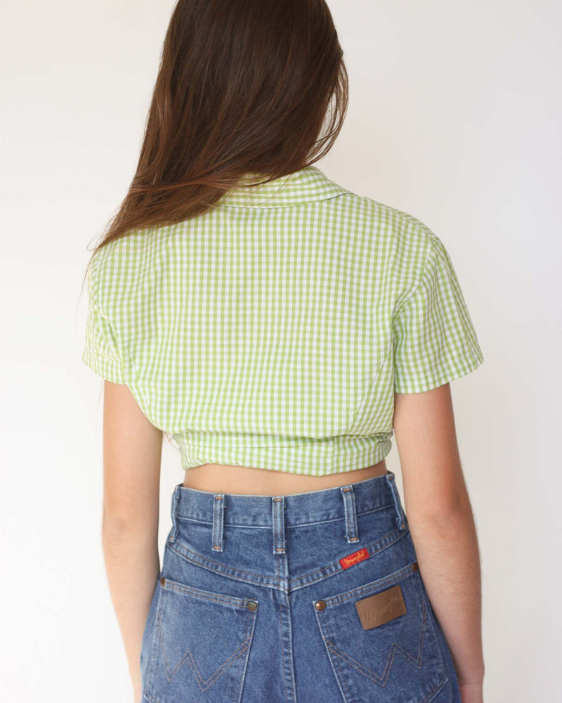 Vintage Gingham Button Top