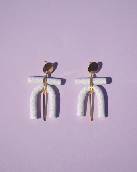 Personita Earrings in Granite