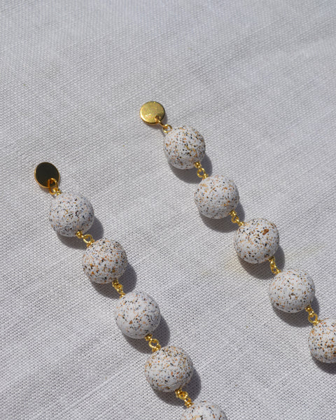 Eva Earrings in Granite