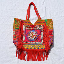 Red Fringe Shoulder Bag