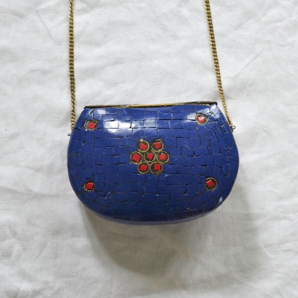 Red & Navy Blue Mosaic Bag