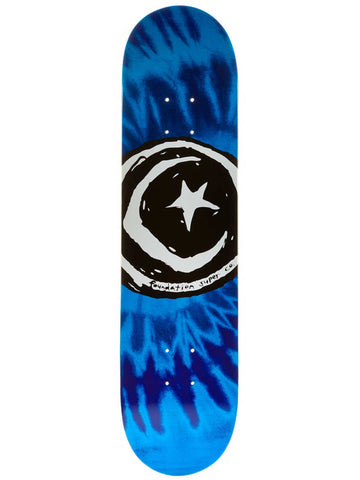 TOY MACHINE FOUNDATION STAR & MOON BLUE TYE DYE