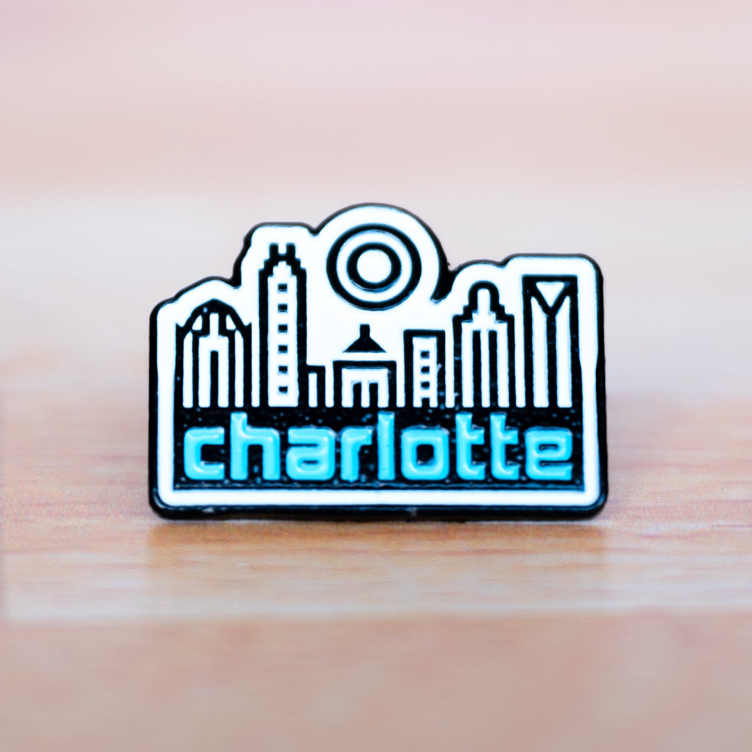 Glory Days Apparel - Charlotte Skyline enamel pin