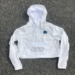 Glory Days Apparel - Women's White Camo CLT Pouch Windbreaker