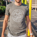Glory Days Apparel - Charlotte Born And Raised grey t-shirt