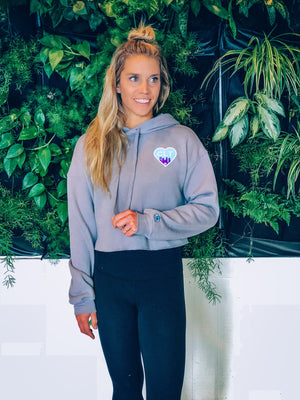 Glory Days Apparel - CLT Heart Crop Hoodie