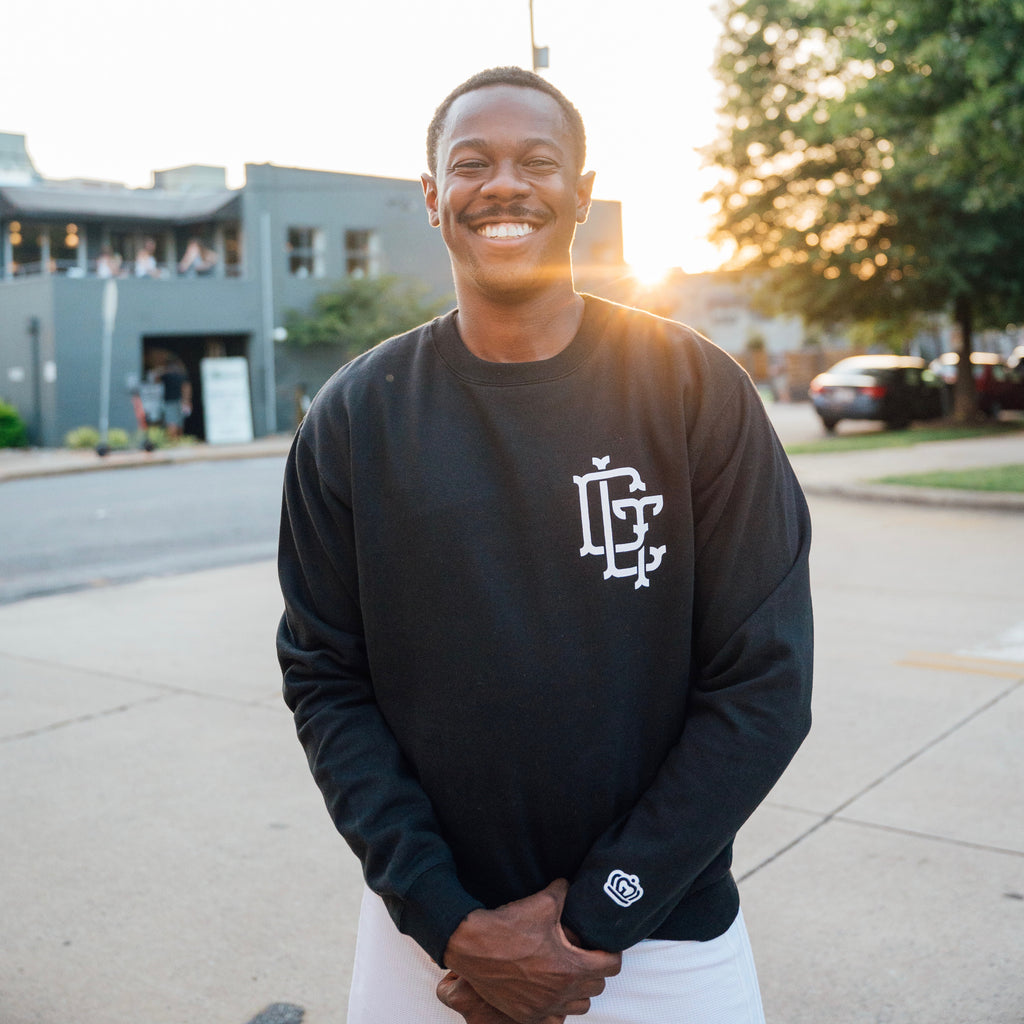 Glory Days Apparel - CLT Slugger black crewneck sweatshirt