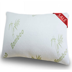 Bamboo Pillow with Shredded Memory Foam Queen