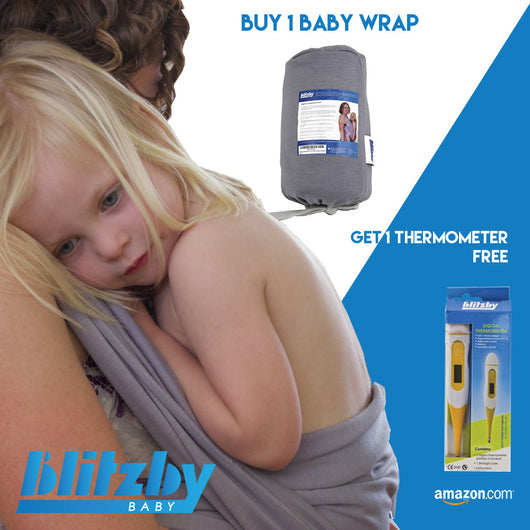 Baby Wrap & Medical Fever Thermometer Combo