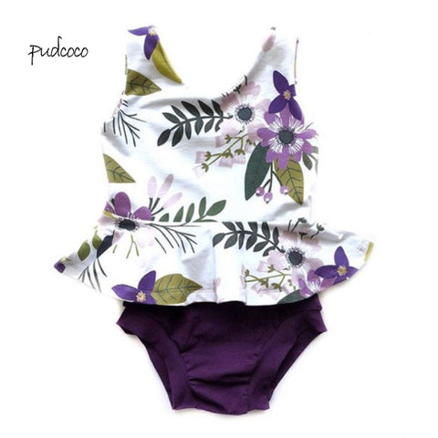 Pudcoco New Brand 2Pcs Newborn Baby Girl Floral Sleeveless Top+Shorts Set Outfit Clothes - Buy The Park | Beautiful Luxury Apparel & Accessories