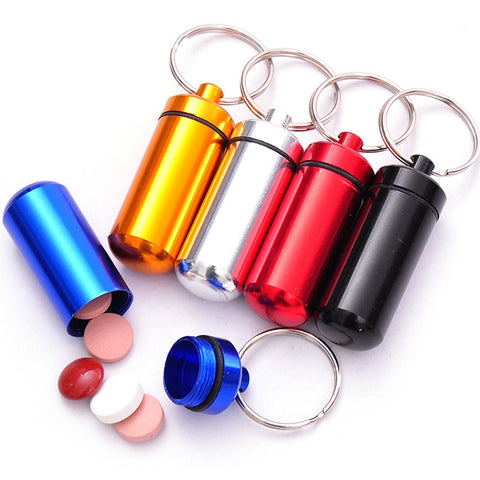 Portable Pill Holder WaterProof Mini Aluminum Keychain Medicine Box Survival Drug Carry Container for Traving Hiking - Buy The Park | Beautiful Luxury Apparel & Accessories