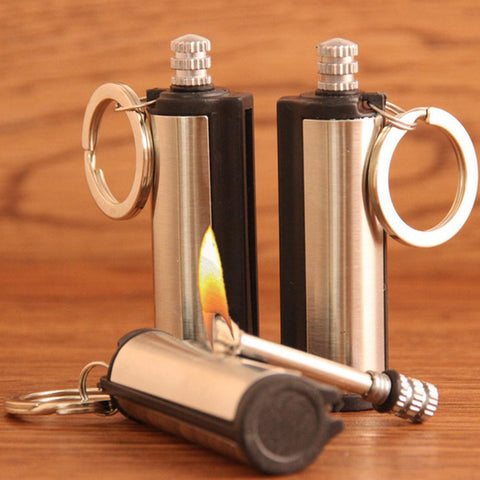 Steel Fire Starter Flint Match Lighter Survival Kit Keychain Camping Emergency Survival Gear Outdoor Survival Stove Tool - Buy The Park | Beautiful Luxury Apparel & Accessories