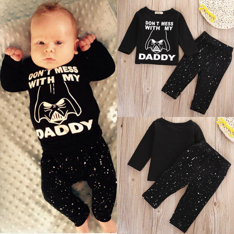 Pudcoco Baby Set 0-24M Newborn Baby Boys Girl Star Wars Clothes Tops T-shirt+Long Pants Outfit Set 2pcs - Buy The Park | Beautiful Luxury Apparel & Accessories