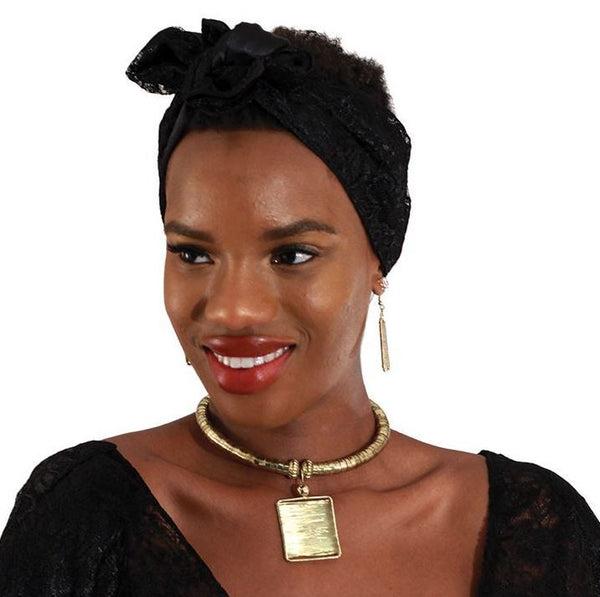 African Goddess Choker and Earring Set