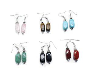 Set of 6 Volcanic Agate Earrings