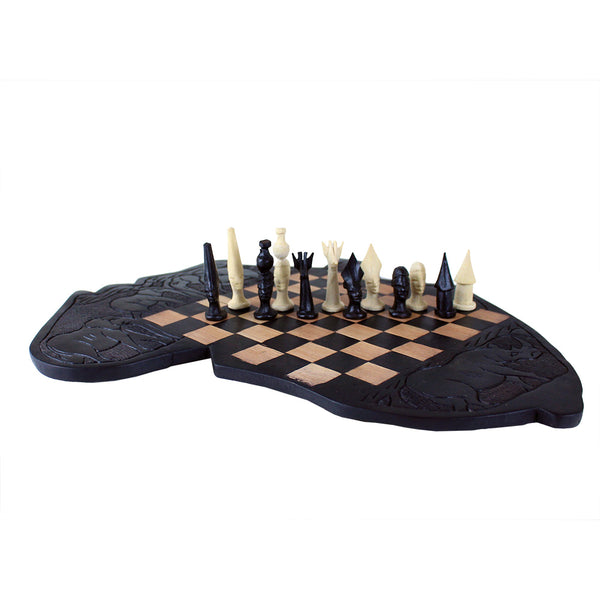 Deluxe Africa Map Chess Set