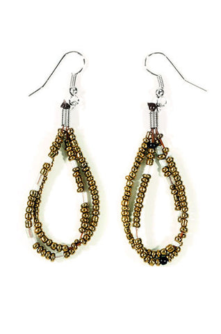 Beaded Dewdrop Earrings