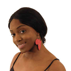 Set of 4 Wooden Africa Earrings