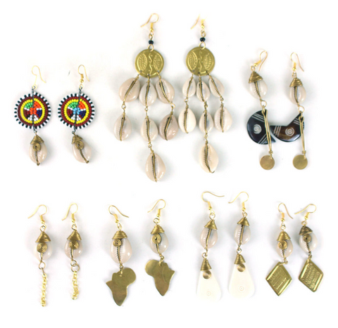 Teshi Cowry Earring Assortment