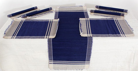Handmade Raffia Leave Table Set