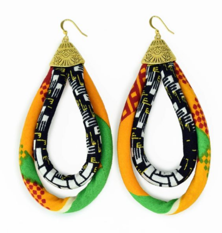 Zaina Kitenge Earrings