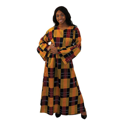 Ladies African Print Maxi Dress