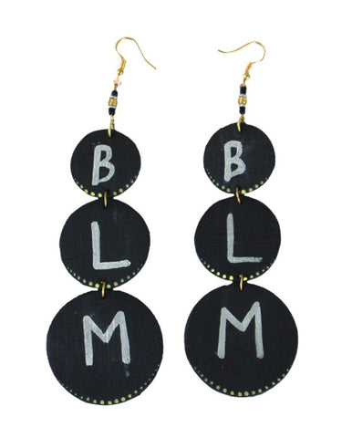 BLM Multi Disc Earrings