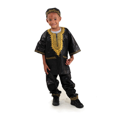 Boy's Embroidered Brocade Set