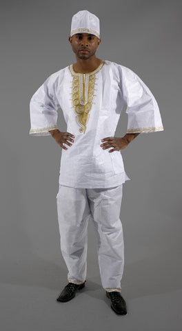 Men's Embroidered Brocade Set