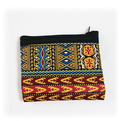 Handcrafted Traditional Print Coin Purse
