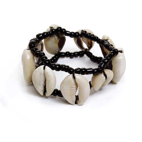 Handcrafted Cowry Shell Beaded Bracelet