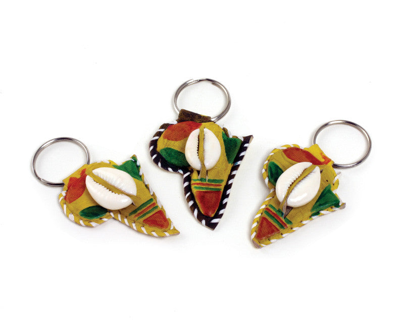 Assorted Cowry Shell Key Chains