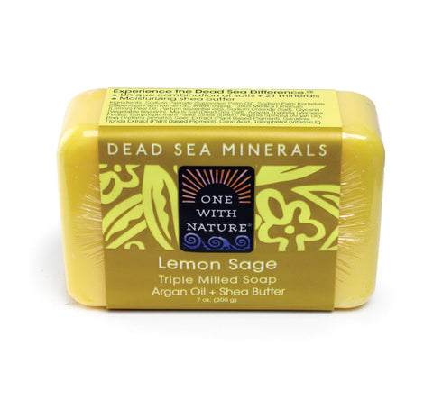 Lemon Sage Shea Butter Argan Soap