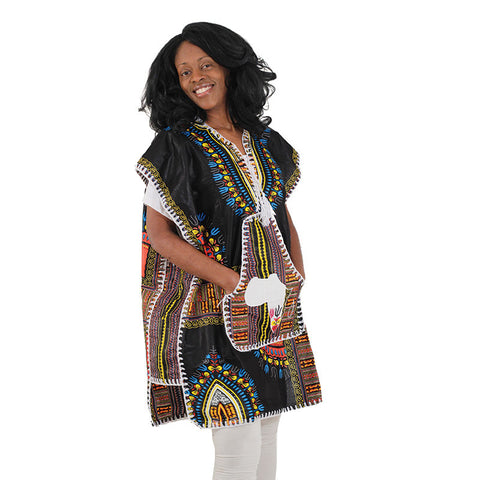 Ladies 100% Cotton Drummer Poncho Dashiki