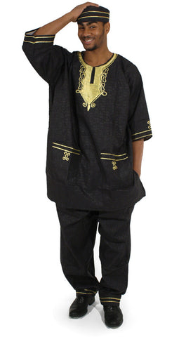 Men's Embroidered Pant Suit