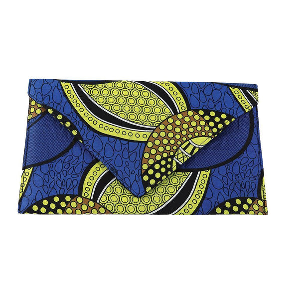 African Print Envelope Clutch