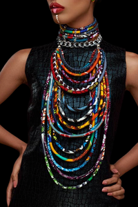 The Faina Kitenge Jewelry Set